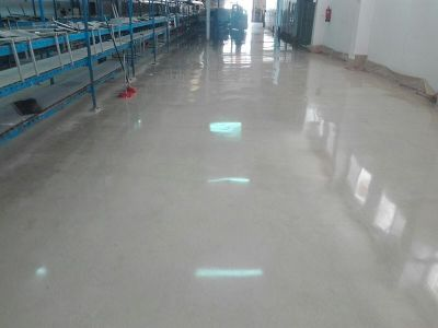 Шлай полиране и кристализация на бетон - индустриални подови настилки