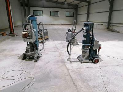 Изравняване на груб бетон