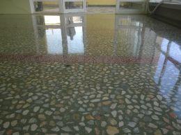 Шлайф и кристализация на мозаечна настилка. - Lux настилки - Плевен