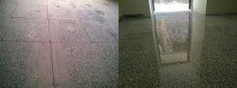 Преди и след поправка чрез шлайфане на мозайка 04 - Lux настилки - Плевен