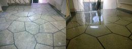Преди и след поправка чрез шлайфане на мозайка 05 - Lux настилки - Плевен
