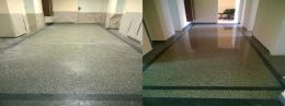 Преди и след поправка чрез шлайфане на мозайка 06 - Lux настилки - Плевен