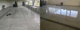 Преди и след поправка чрез шлайфане на мозаечен под - Lux настилки - Плевен
