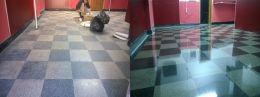 Преди и след поправка чрез шлайфане на мозайка 02 - Lux настилки - Плевен